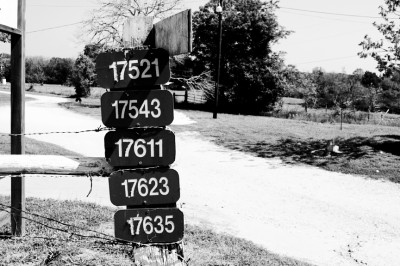 Numbers on a Country Road
